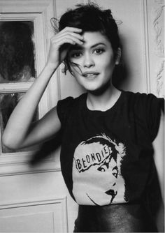 ... dark hair, big eyes, talent, conviction, and an accent. Love Audrey Tautou.