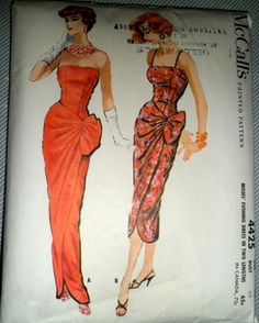 McCall's 4425 ~ Vintage Sarong patterns ~ eBay auction by lamplight-vintage ends June 15, 2012 ~ current bid is $31.00    Wonder if the seller knows this pattern goes for $150+ in other places...