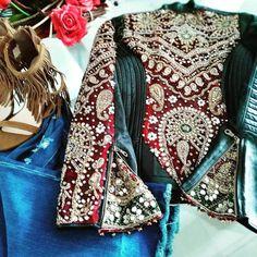 Lehenga, Indian Jackets, Textiles, Vintage Leather Jacket, Free People Jacket, Vintage Outfits, Vintage Clothing, Cool Jackets, Boho