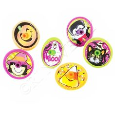 "$2.99 for: 144 ~ Halloween Spin Tops ~ Plastic with Sticker Decoration ~ Approx. 1.25"" Spinning Tops ~ New ~ Trick or Treat, Dracula, Black Cat, Candy Corn, Witch, Ghost, Pumpkin RI,http://www.amazon.com/dp/B005R10I04/ref=cm_sw_r_pi_dp_MSNAsb1KRAV2NR42"
