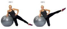 Side Leg Lift On Stability Ball