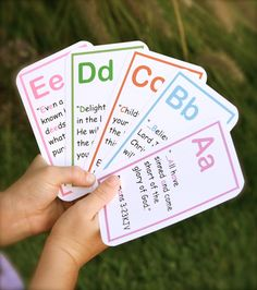 ABC Bible Verse Flashcards-Girl Colors. $9.95, via Etsy.