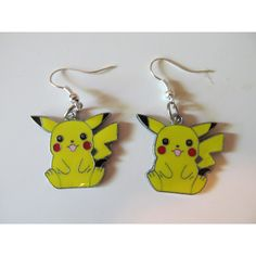 Pikachu charm earrings ($8) ❤ liked on Polyvore