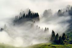 Photo Fog Tide par Tomáš Tichý on Our Planet Earth, Fantasy Places, Pilgrimage, Landscape Photos, Luxury Travel, Mists, Sunrise, Beautiful Places, Clouds
