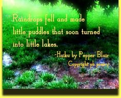 Little Puddles--More works by Pepper: http://www.love-pb-poetry.com/