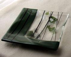 Art Fused Glass Plate Handmade Designer Housewares Designer Home Decor Office Design Accent Home Decor Wedding Gift