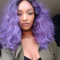 OMG: Jourdan Dunn's hair is now purple <3