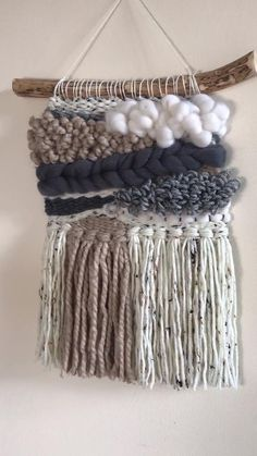 Macrame Wall Hanging Diy, Weaving Wall Hanging, Macrame Art, Weaving Art, Tapestry Weaving, Loom Weaving, Bohemian Tapestry, String Crafts, Diy Tassel