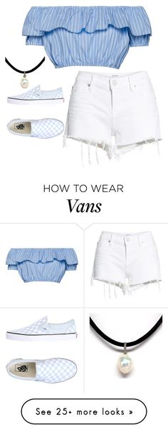 """T^K= M="" by singingloud on Polyvore featuring Hudson Jeans and Vans"