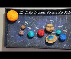 I made this solar system model for my kid. So, she can understand better and can remember all the planets name. It can be good for school science project. Solar System Model Project, Solar System Science Project, Solar System Projects For Kids, Solar System Crafts, Solar System Planets, Make A Solar System, Sistema Solar 3d, Solaire Diy, School Science Projects