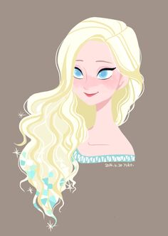 Art book Elsa. I do wish they had left some icy crystals in her hair like that…