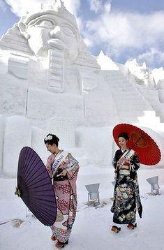 Sapporo Snow Festival in Sapporo, Japan
