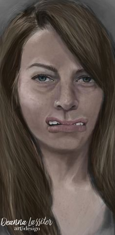 """digital art - digital painting representing the idiom """"talking out of both sides of your mouth"""""""
