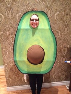 My 7 months pregnant wife as an avocado.