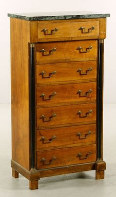 Biedermeier Marble Top Chest : Lot 3367