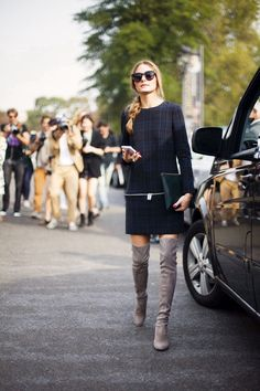 Olivia palermo Zara dress cuissardes grises