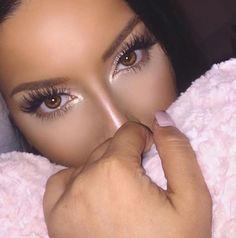 Glow and lashes! Makeup Geek, Makeup Inspo, Makeup Inspiration, Makeup Ideas, Makeup Lipstick, Eye Makeup, Hair Makeup, Eyeshadow, Huda Beauty