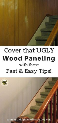 How to Paint Old Wood Paneling A fast and easy home project. Tips and tricks for painting old grooved wood paneling. Update your home; easy to do one room a day! Brighten your home by painting wood paneling. Paint Over Wood Paneling, Wood Paneling Makeover, Wood Panneling, Painted Wood Walls, Wood Panel Walls, Wooden Walls, Wood Paneling Decor, Paneling Ideas, Painting Panneling