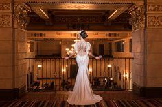 Photographer: The Big Affair | Makeup Artist: Beauty Affair | Bridal Designer: Galia Lahav | Groom's Attire: Friar Tux | Floral Designer: Luna Gardens Events | Linens and Coverings: LUXE Linen | Dress Store: Panache | Invitation Designer: Red Bliss Design | Invitation Designer: RedBliss | Reception Venue: Roosevelt Hotel Hollywood | Bakery: Sweet E's Bake Shop | Musicians: The Big Lucky #wedding #inspiration #1920s #Hollywood #Glamour #suit