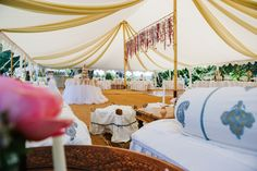Marquee draping softens a room and can be installed in any colour, texture and pattern imaginable.