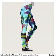Shop Sxisma Fashion Abstract Leggings created by SxismaShop. Designer Leggings, Look Cool, Body Types, Dressmaking, Hand Sewing, Things That Bounce, Cool Designs, Comfy