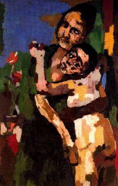 Oskar Kokoschka (1886 -1980) was een Oostenrijks kunstenaar: schilder, graficus en schrijver. Kokoschka had een onstuimige verhouding met Alma Mahler-Schindler, de weduwe van de componist Gustav Mahler. Hij schilderde haar portret en trok met haar door Italië. Hij maakte voor Alma van 1912 tot 1914 een serie van zeven waaiers, waarop symbolisch het verloop van hun verhouding was weergegeven.