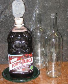 Wine from bottled juice