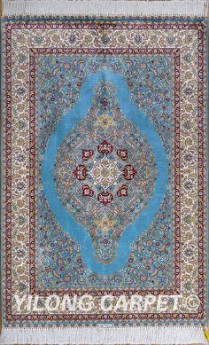 Persian Rug Blueturkish Carpet Silk Tabriz Rugs Hereke Area Materials Technology