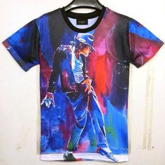 Michael Jackson Painting Print T Shirt Men/Women Camiseta T-shirt MJ Dancing Top
