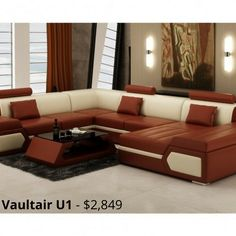 Vaultair - U1 - Leather Sofa Modular Lounge - made from genuine leather and is fully customisable in dimensions, colours, design and configuration. Buy online, Australia wide delivery, guaranteed cheapest in Australia.