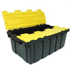 Shop GSC Technologies Flip-Top Heavy Duty at Lowe's Canada. Find our selection of plastic storage totes at the lowest price guaranteed with price match. Plastic Storage Totes, Tote Storage, Heavy Duty Storage Boxes, Living Single, Tool Organization, Tool Box, Technology, Top, Construction