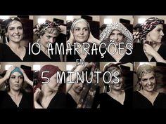 10 amarrações de lenço em 5 minutos com Flávia Flores - YouTube