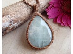 Aquamarine Necklace/Throat by GaiasGiftsToUs on Etsy