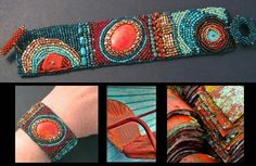 Julie Powell embroidered cuff
