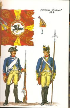 The Army of Frederick The Great of Prussia 1750. Infantry Regiment No.4