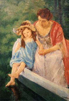 Mother And Child In A Boat - Mary Cassatt