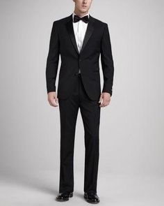 The Hugo Boss Stars/Glamour tuxedo updates timeless black tie style with a slim modern fit. Two-piece set. Satin piping and satin-covered buttons. two-button front. More Details Tuxedo Suit, Tuxedo For Men, Sharp Dressed Man, Well Dressed Men, Hugo Boss, Expensive Suits, Designer Suits For Men, Men Store, Groom Wear