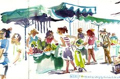 Urban Sketchers: How to Sketch People, When They Insist on Moving About!