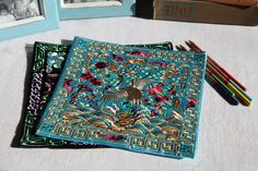 Look at the details of the breath-taking embroidery, these two beautiful square mats are perfect for pot, kettle, cooker and pottery, or you can just frame it as an art deco for your room. I only have 2, one is blue with crane embroidery, which means good luck and longevity in Chinese culture; The other is black with phoenix embroidery, which means love, peace and power. No embroidery in the back.  Each one is so unique and gorgeous, no matter which one you choose, it will make your room…