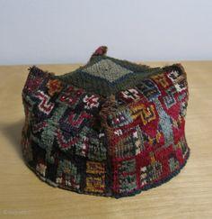 Wari four cornered hat.  AD 500 - 800.  Rare large figures.