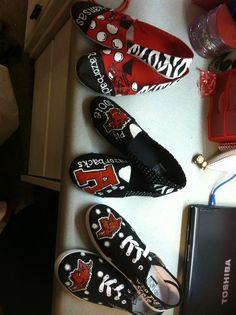 razorback shoes I painted.