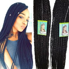 Hot Long Length Ombre Senegalese Twists Hair Synthetic Havana Mambo Twist Crochet Extensions For Black Women In Braiding