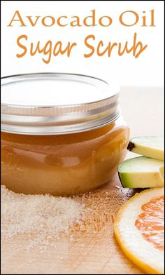 Avocado Oil Sugar Scrub // #health #beauty #diy