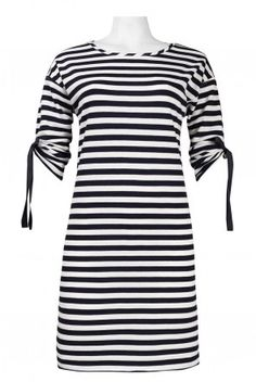 Navy Stripe Dress classy elegant dress fashion trends