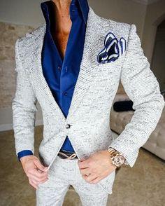 Simply add 5 items to your cart. Mens Fashion Wear, Suit Fashion, Boy Fashion, Der Gentleman, Gentleman Style, Grey Suit Men, Mens Suits, Mode Costume, Designer Suits For Men
