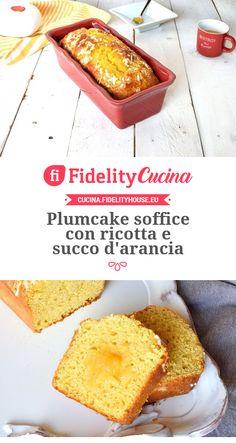 Plumcake soffice con ricotta e succo d'arancia Plum Cake, Cornbread, Buffet, French Toast, Bakery, Food And Drink, Yummy Food, Sweets, Breakfast