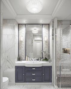 1,402 отметок «Нравится», 12 комментариев —  ДИЗАЙН ИНТЕРЬЕРА И РЕМОНТ (@estee_design) в Instagram: «Эта нежная перламутровая ванная комната обращает на себя внимание разноформатной отделкой…»