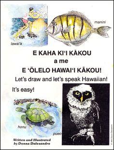 learn to draw and speak Hawaiian