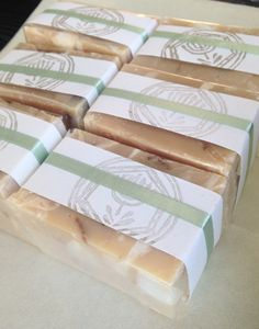 Easy diy soap wrapping