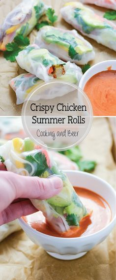 Tropical Crispy Chicken Summer Rolls are a bright and cheerful spring or summer recipe!